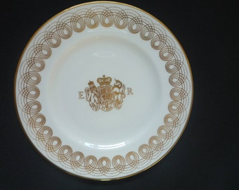 Wedgwood Eric Ravilious Golden Persephone Plate with Royal Coat of Arms