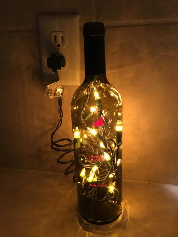 Wine Bottle Light by WineArtDesign on Etsy
