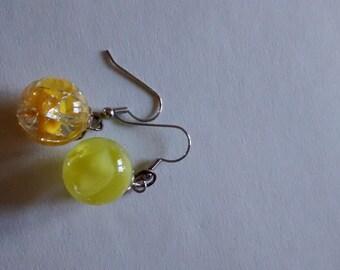Sunburst marble earrings