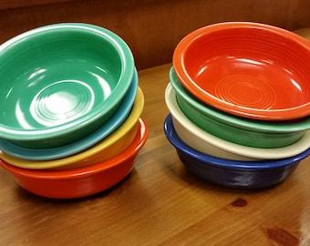 """Original Fiesta Fiestaware 5 1/2"""" dessert bowl Homer Laughlin hlc oatmeal"""