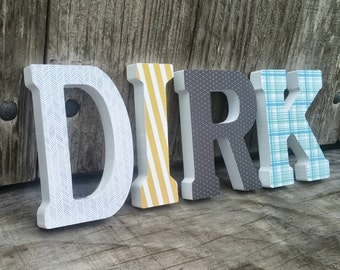 Wooden Letters, Wooden Initials, Home Decor, 4 1/2 Inch Letters, Decorative Letters, Wooden Name, Name Decor
