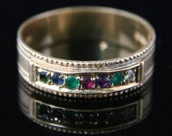 Antique Dearest Ring - Set With Gemstones That Spell Dearest
