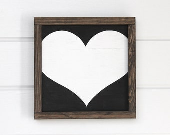 "Wood Heart. Black and White Signs. Rustic Wedding Decor. Heart Wood. Rustic Heart. Heart Wall Hanging. Heart Wall Art. 12"" x 12"""