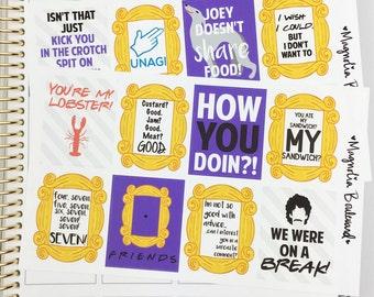 Friends TV Show Planner Stickers! Perfect for your Erin Condren Life Planner, Plum Paper, Filofax, Kikki K, Scrapbook, Etc.