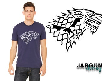 Dire Wolf Dragon Silhouette