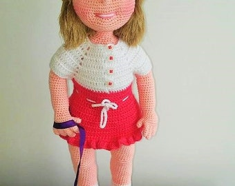 Amigurumi Female Body : Items similar to Amigurumi pattern: basic female body on Etsy