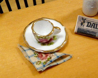 1:12 Miniature Napkin Decorative Serviette Dollhouse Kitchen Accessory Mini Dolls House Pantry Cottage Chic Shabby Country Floral Checked