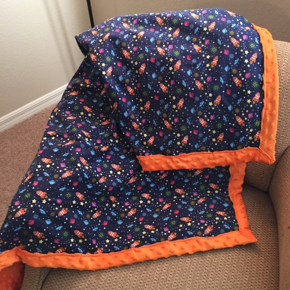 Outer space minky blanket for Outer space fleece