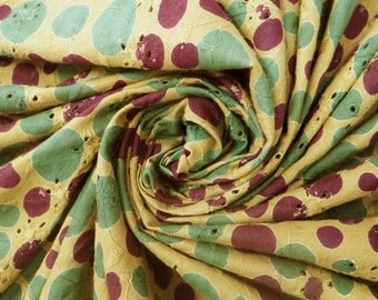 Indian Cotton Fabric For Sewing Designer Green Dress Crafting Fabric Green Polka Dot Pattern Embroidered Sewing Apparel By The Yard ZBC1772
