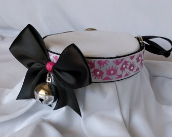 Princess Crown Webbed Collar