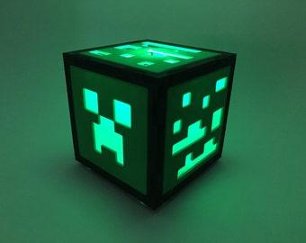 Mine craft Creeper inspired night light