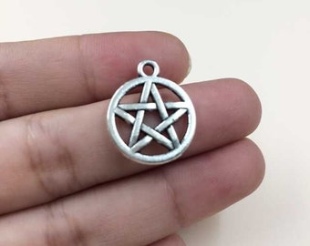 Cute Deathly Hallows Star Sign Charms Pendants Alloy DIY Charm Jewelry Making 30pcs T713