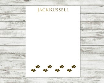 Personalized Notepad, Pet Notepad, Dog Lover, Pet Gift, Custom Notepad, Dog, Paw Print, Personalized Dog Notepad