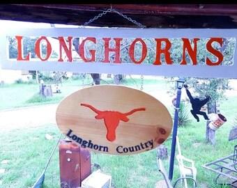 Texas Longhorns Wooden Sign