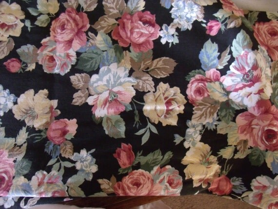 Shabby floral home decor fabric yardage by romanticbohemian57