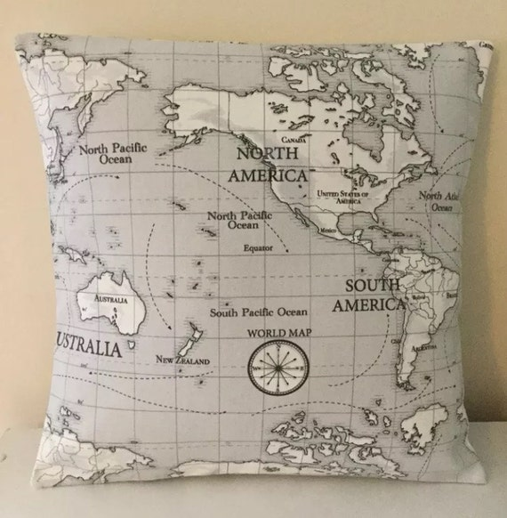 Fabric traditions world map fabric panel 60 x 36 items similar to world map atlas fabric gumiabroncs Gallery