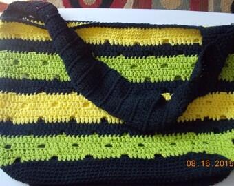 Beach Bag, Overnight Bag, Market Bag, Tote Bag, Crochet Bag, Handmade Bag, Jamaican Bag