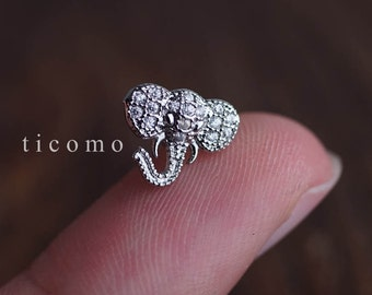 cartilage earring 16g helix earring helix piercing cartilage piercing tragus earring tragus piercing conch piercing elephant