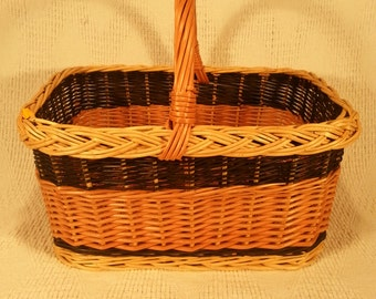 Square wicker shopping basket 023