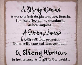 A Strong Woman Wooden Sign