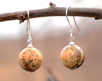 Picture jasper earrings, Jasper earrings, Jasper silver earrings, Picture jasper silver earrings, Silver earrings jasper, Jasper jewelry.