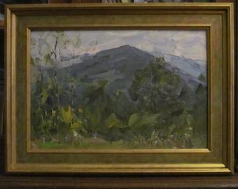 Foothills. Artist Syryatov. Oil painting. Original