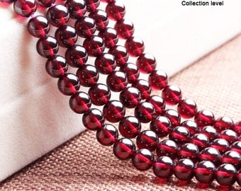 Natural Red Garnet Bead strands,6A&top grade(collection) Rhodolite,January Birthstone beads,Round Red Gemstone Beads,4 5 6 7mm,semi precious