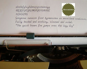 Cursive script St. Valentine's gorgeous typewriter EXCELLENT