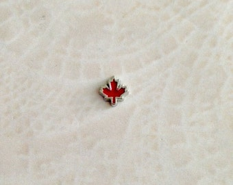 Canadian leaf floating charms for memory locket