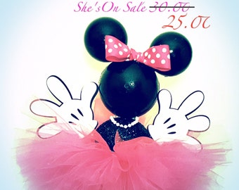 Hot Pink Minnie Mouse Centerpiece