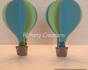 12 Hot Air Balloon Candy tube Favor