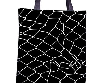 Fenced In Tote Bag - Health Goth Cyberpunk Grunge Fashion Statement tumblr