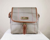 Ralph Lauren Shoulder Bag with Houndstooth Pattern and Adjustable Shoulder Strap RESERVED