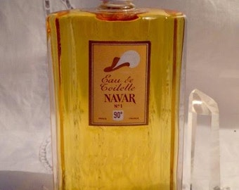Navar, Navar No. 1, 100 ml., 3.51 oz. Flacon, Eau de Toilette, 1926, Paris, France ..