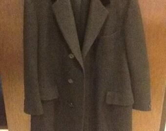Louis Boston Men's Overcoat With Velvet Collar