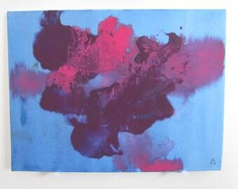Explosion #2 - Tiny Abstract Acrylic Painting