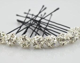 Rhinestones Hair Pins, Wedding Hair Pins, Crystal Hair Pin, Wedding Jewelry, Bridal Hair Pins, Pearl Hair Pins, Pins, Hairdo, Updo