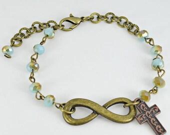 Infinity Cross Bracelet