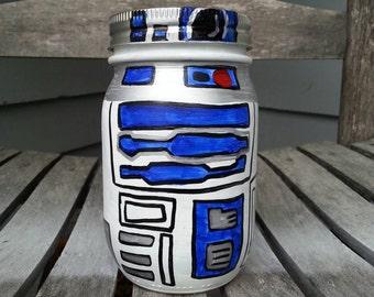 Starwars R2D2 mason jar piggie bank