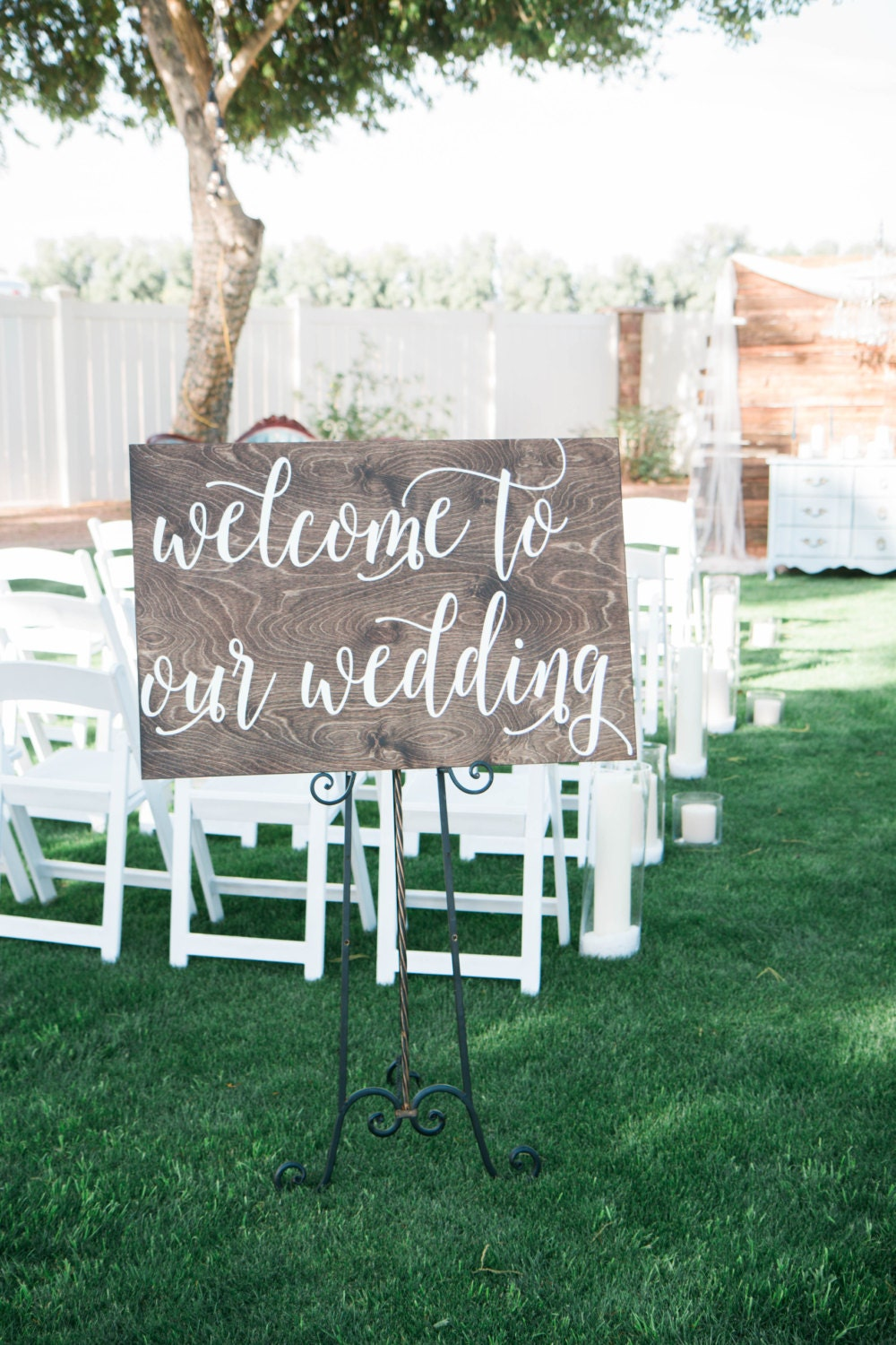 Welcome To Our Wedding Wooden Sign Wedding Sign Wood Sign