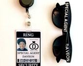 Ring Security Badge Set w/ Matching Customized Sunglasses (Ring Bearer Alternative)