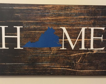 Virginia Home Sign 9x15