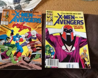 The Xmen vs the Avenger 4 book set