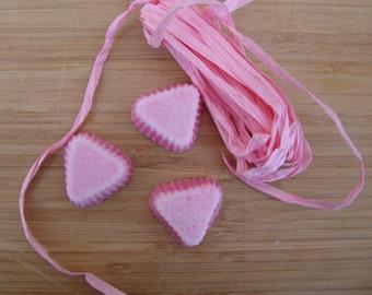 Assortment bicolored sugar cubes, handmade item, tea party favors .shower favors,  gift ideas.