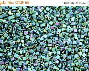 On Sale NOW 25%OFF TOHO 11/0 Triangle Beads - Matte Color Iris Teal [Tg-11-706]