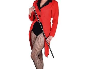 Summer Sale Ladies Red / Black Tailcoat - Circus Ringmaster