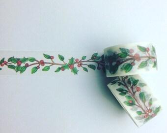 Christmas holly washi tape
