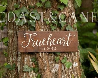 Last name sign Established sign Wood established sign Family name sign Sign date Wood last name Custom family gift Wood home sign Newlyweds
