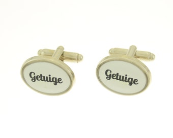 Unique cufflinks for your wedding for the witness/witnesses of a wedding.