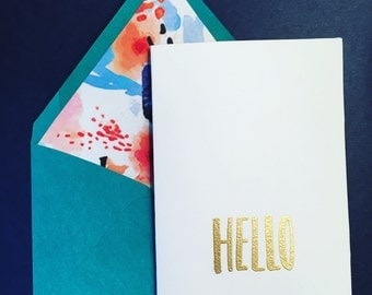 Cute Note Card, Note Card, Hello Note, Blank Note Cards